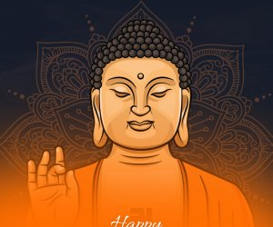 Beautiful 2020 Happy Buddha Purnima Whatsapp Status videos, stickers, greetings, wishes, Lord Buddha pictures