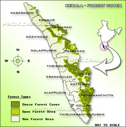 Kerala Forest Map