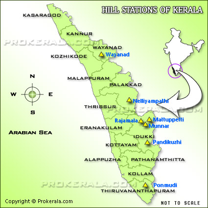 Kerala hill-stations Map