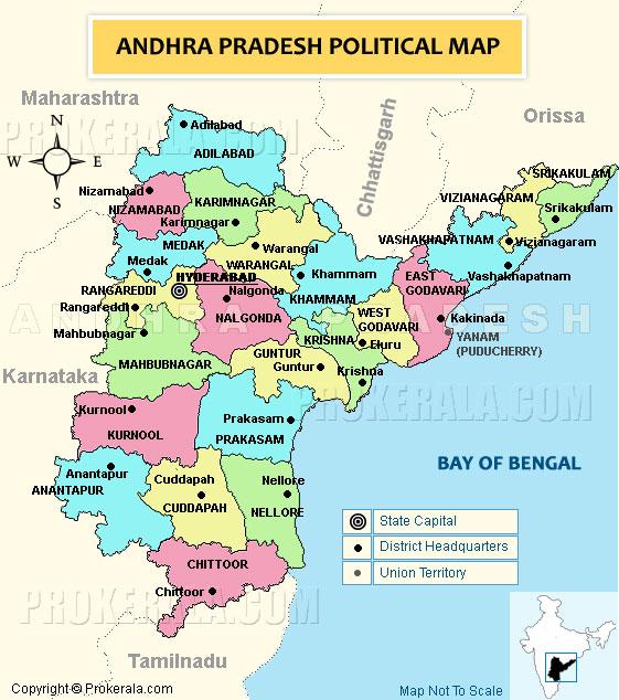 andhra pradesh and telangana map with districts Andhra Pradesh Map Political Map Of Andhra Pradesh State Map andhra pradesh and telangana map with districts