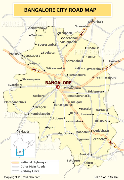 City Map Of Bangalore Bangalore Map | Bangalore City Map | Banaglore Urban Road Network Map