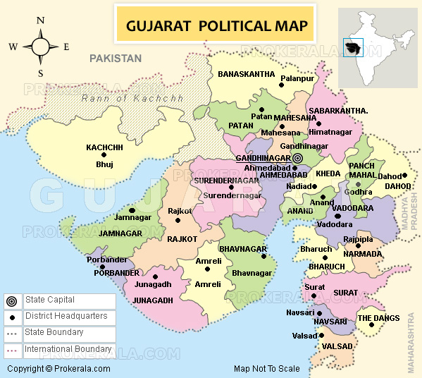 Map Of Gujarat State Gujarat Map | Districts Map of Gujarat | Gujarat State Map