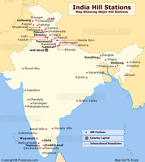 India hill stations and location