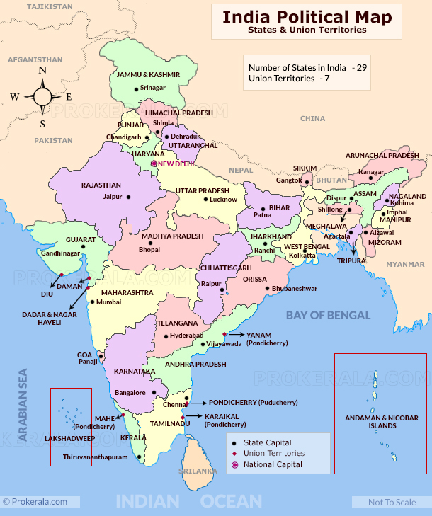 India Map | India Political Map | India Map with States | Map of India