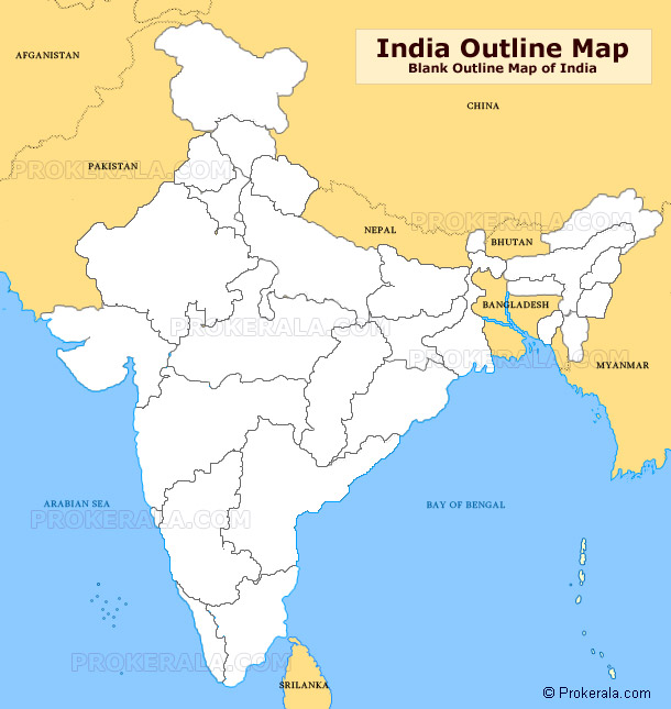 India Outline Map Outline Map Of India Blank India Map Outline