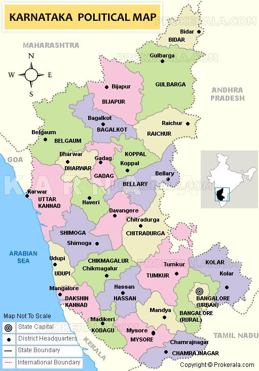 Karnataka Map | Map of Karnataka State, India | Bengaluru Map
