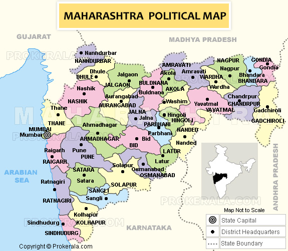 Maharashtra Map  Map of Maharashtra State of India  Printable
