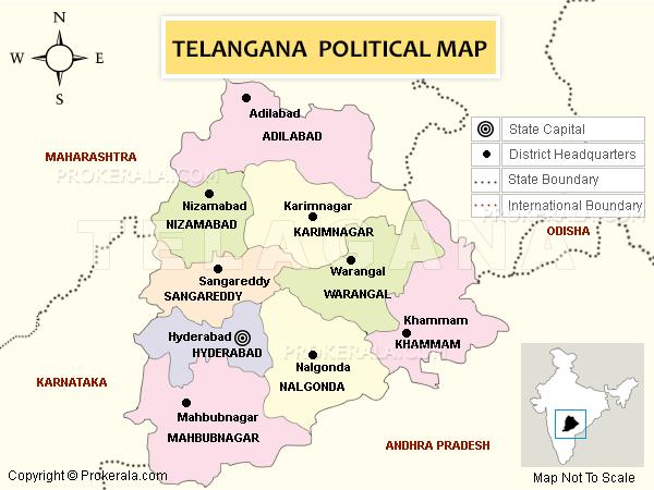 Telangana State | Map of Telangana State