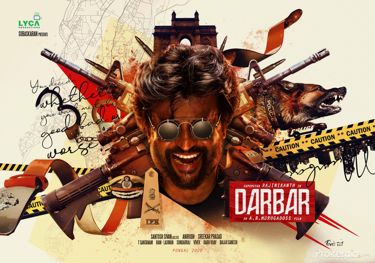 Rajinikanth starring Darbar movie 1st Look new poster