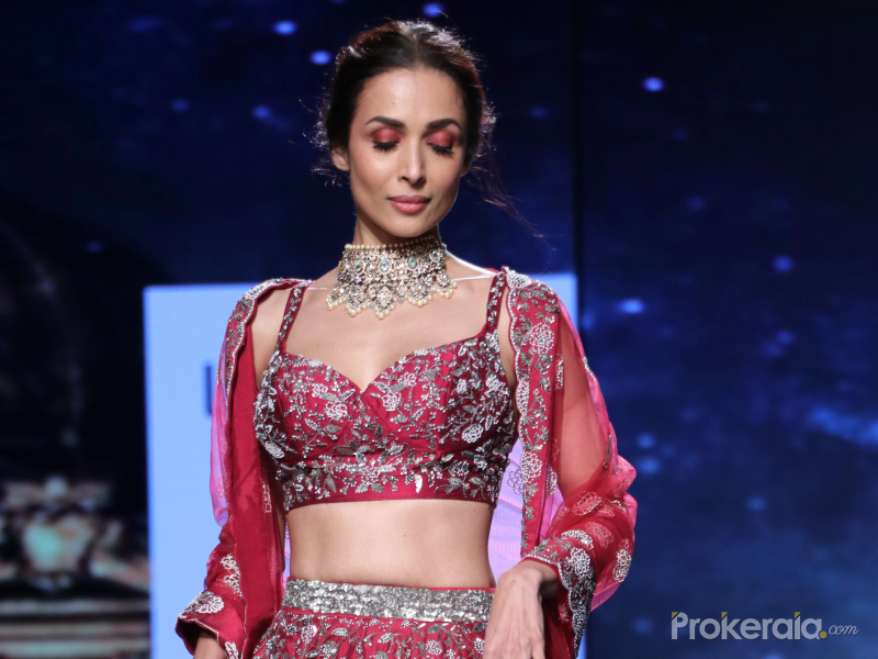 Actress Malaika Arora at Lakme Fashion Week