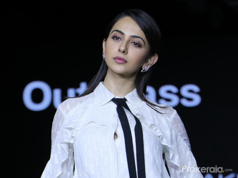 Actress Rakul Preet Singh walks the ramp for Ajio at Lakme Fashion Week 2020