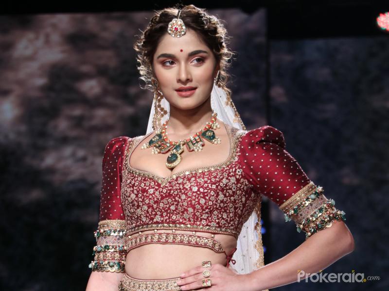 Actress Saiee Manjrekar at Lakme Fashion Week