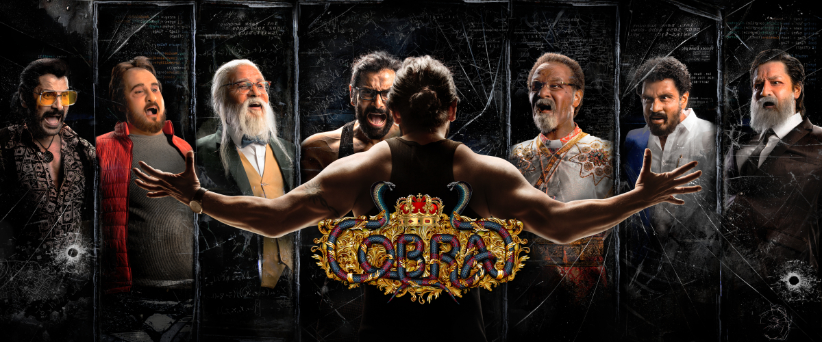 Chiyaan Vikram 's movie Cobra first look poster