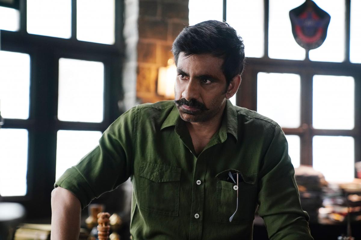 Ravi Teja new still from movie Krack