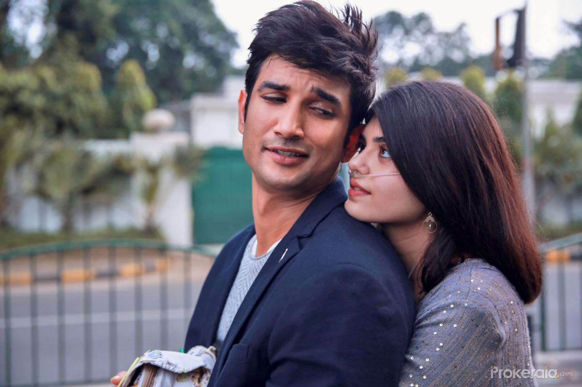 Sushant Singh Rajput and  Sanjana Sanghi's still from movie Dil Bechara