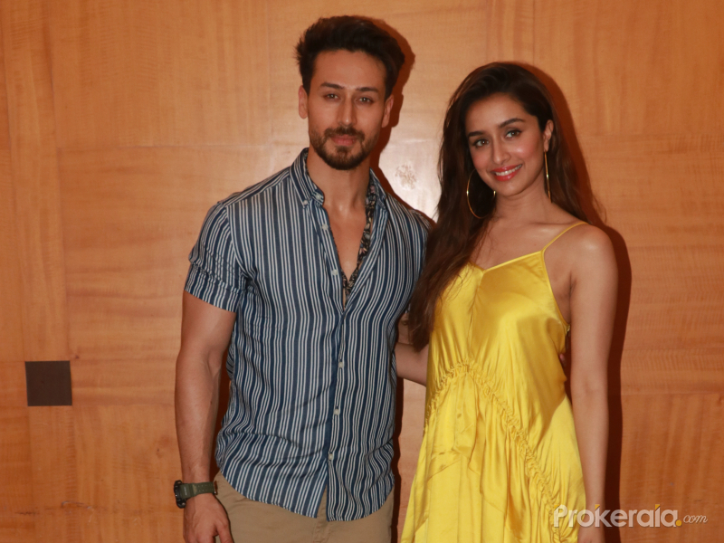 Actor Tiger Shroff and Shraddha Kapoor at the promotions of film Baaghi 3