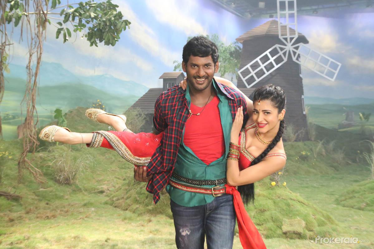 vishal and shruti haasan in poojai movie wallpaper