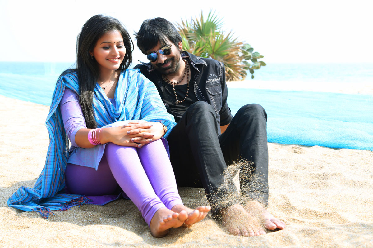 anjali and ravi teja in balupu still # 37