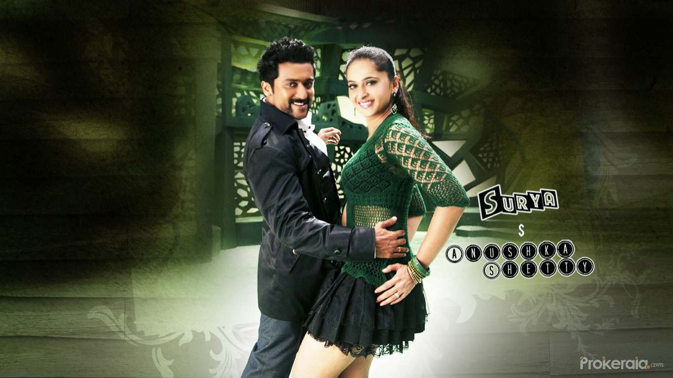 Surya and anushka shetty wallpapers in singham suriya wallpapers download wallpaper thecheapjerseys Image collections