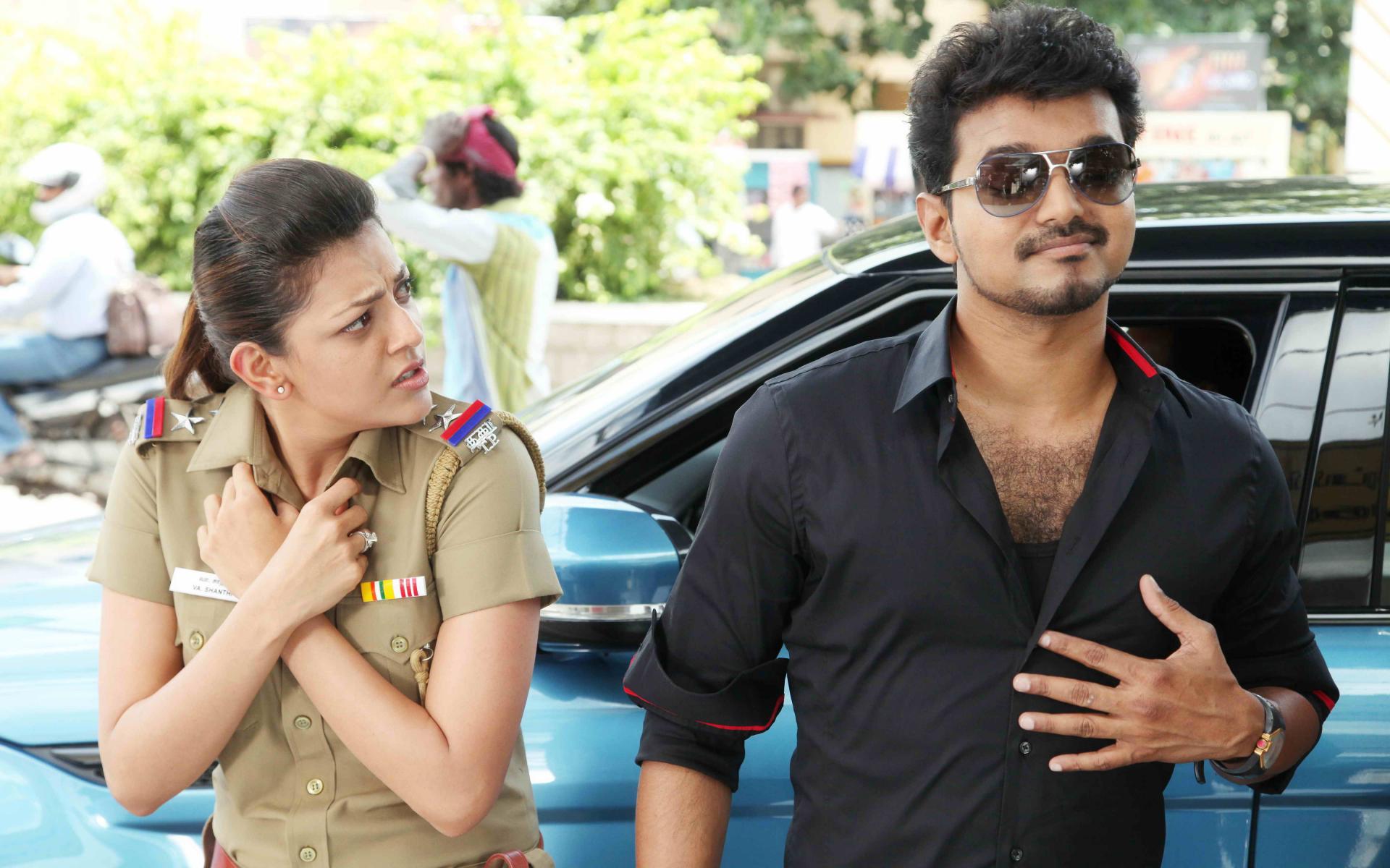 vijay and kajal aggarwal in movie jilla still # 5