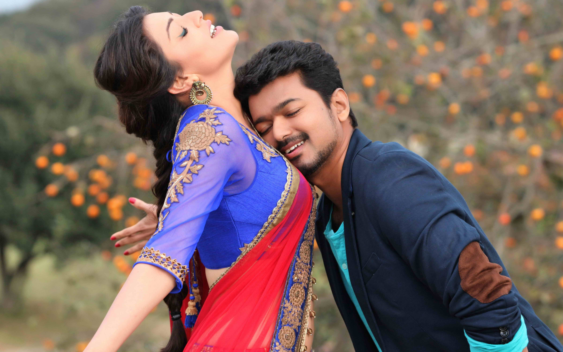 Vijay and kajal aggarwal in movie jilla still 3 download wallpaper thecheapjerseys Images