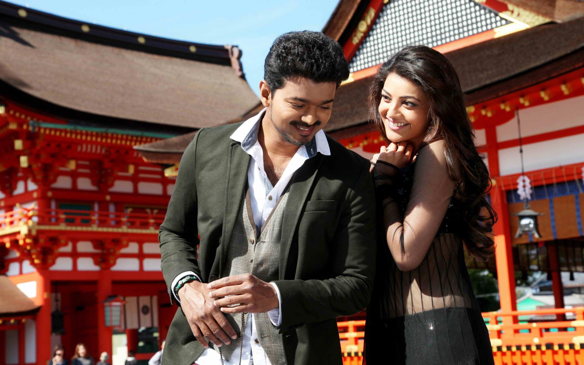 Vijay and kajal aggarwal in movie jilla still 1 download wallpaper voltagebd Images