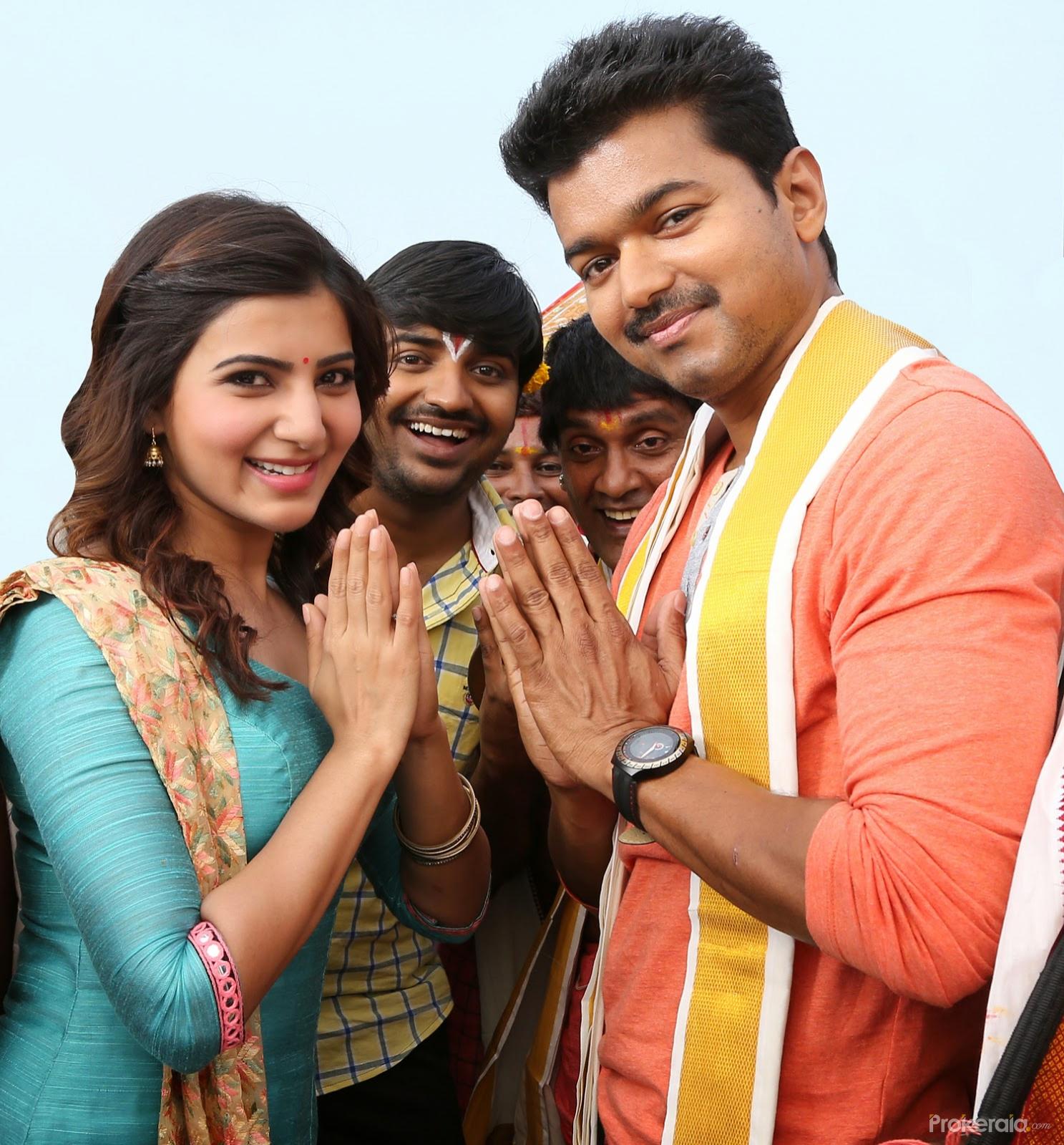 vijay and samantha in movie kaththi. still # 18