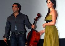 Salman Khan with Katrina Kaif at the music success celebration of Yuvvraaj