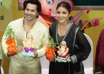 Varun Dhawan and Anushka Sharma launch the Times Green Ganesha