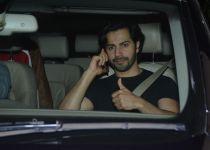 Varun Dhawan spotted at Maddock films office in bandra