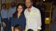 Actor Riteish Deshmukh with his Family at Aaradhya Bachchan birthday party.