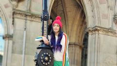 Adah in London shooting for Commando 3