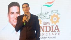 Akshay Kumar at the launch of New India Conclave
