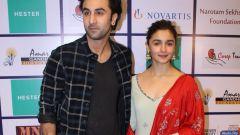 Alia Bhatt and  Ranbir Kapoor At Amar Gandhi Foundation Organises Musical Night