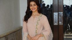 Alia Bhatt during media interactions for Raazi