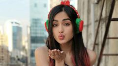 Christmas vibes with Adah Sharma