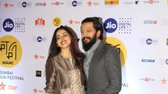 Genelia D Souza and Riteish Deshmukh @ Jio Mami 18th Mumbai Film Festival Opening Ceremony