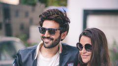 Kartik Aaryan and Neha Dhupia before the recording for #NoFilterNeha - Season 3