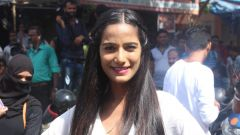 Poonam Pandey Distribute Raincoat To Neddy Kids