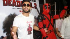 Ranveer Singh hosts a special screening of hollywood film deadpool 2