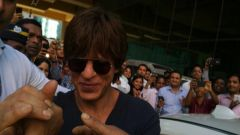 Shah Rukh Khan Spotted At Wockhardt Building BKC