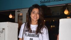 Shriya Saran spotted at Bblunt in bandra