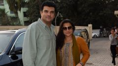 Vidya balan and Siddharth Roy Kapoor spotted at pvr juhu