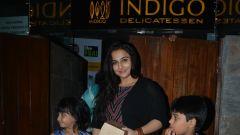 Vidya balan spotted at indigo bandra