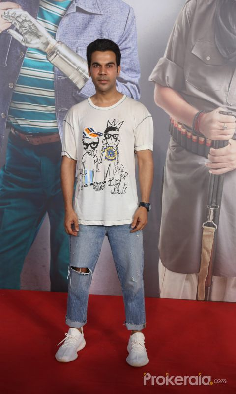 Actor Rajkumar Rao Screening of film Kaamyaab at pvr ecx in andheri