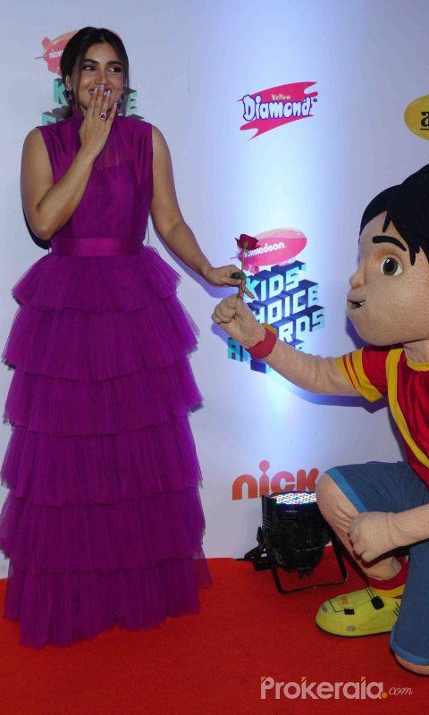 """Actress Bhumi Pednekar at Nickelodeon """"The Kids Choice Awards 2019 at film city goregaon"""
