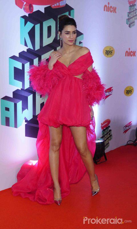 "Actress Kriti Sanon Nickelodeon ""The Kids Choice Awards 2019 at film city goregaon."