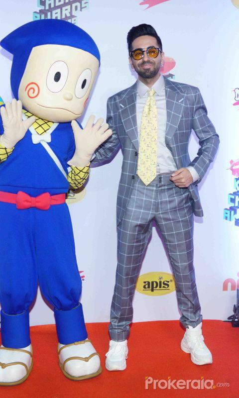 """Actor Ayushman Khurana at Nickelodeon """"The Kids Choice Awards 2019 at film city goregaon."""