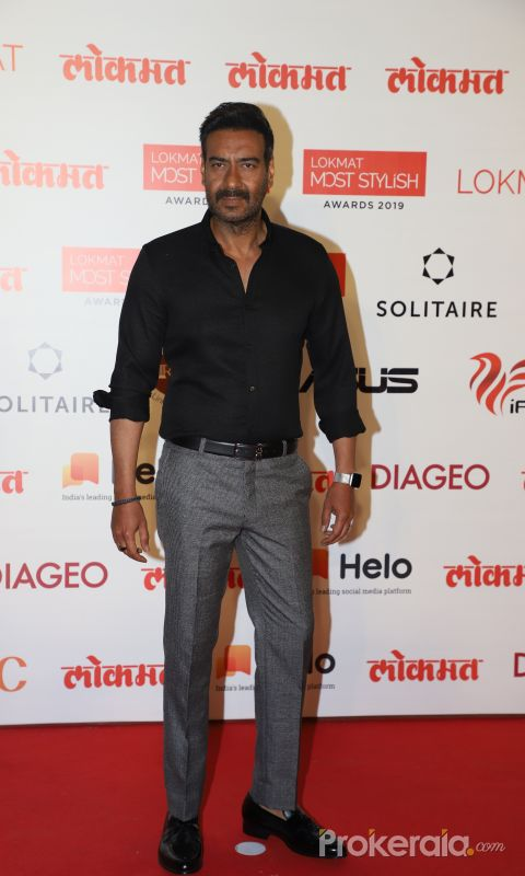 Acto rAjay Devgan  During the Star Studded 4th Edition Of Lokmat Most Stylish Awards.
