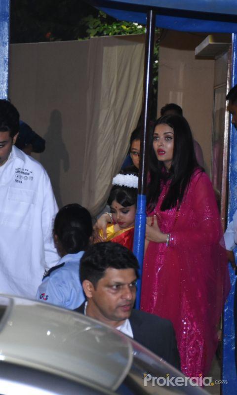 Actor Abhishek Bachan and Family attend the annual day function of Dhirubhai Ambani International School.